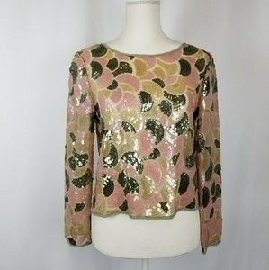 Tops - Vintage Sheer Sequin Party Top